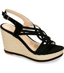 sandalias de plataforma negro bata faith mujer