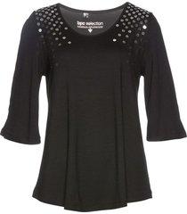 maglia lunga con paillettes (nero) - bpc selection