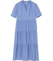 alania dress in blue iris