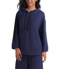 women's long sleeve drop shoulder hoodie