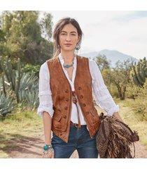 lorena leather vest