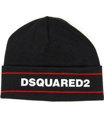 dsquared2 knit logo beanie