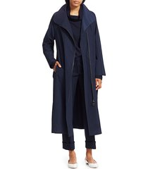akris punto women's heidi long parka - navy - size 6