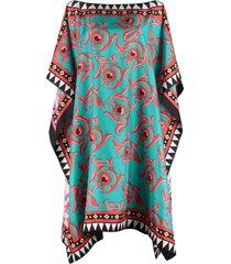la doublej printed kaftan dress