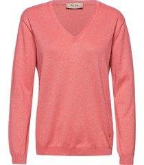 ada v-neck knit stickad tröja rosa mos mosh
