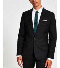 river island mens black skinny fit suit jacket