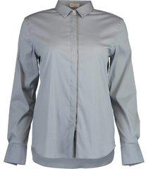 blue cotton stretch shirt
