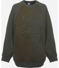 loewe anagram cotton sweatshirt