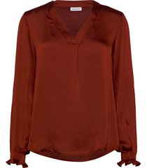 blouse long-sleeve blus långärmad röd gerry weber