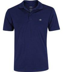 camisa polo adams bryan - masculina - azul escuro