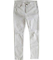 kocca witte ripped ankle skinny jeans met gaten