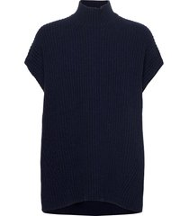 rib knit vests knitted vests blauw ganni