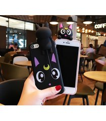 cute cartoon sailor moon luna cat case cover for iphone 7 7 plus 6 6s plus soft