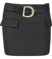 balmain rear zip short skirt