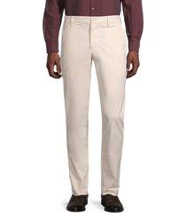 french connection men's low-rise cotton-blend pants - tarmac khaki - size 34