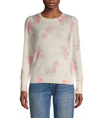 maia floral wool sweater