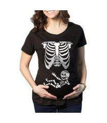 camiseta criativa urbana gestantes - grávidas raio x engraçadas
