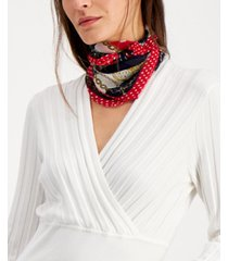 inc nautical party pleated bandana scarf, created for macy's