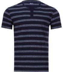 camiseta descanso a rayas color azul, talla m