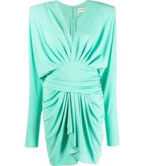 alexandre vauthier jade green draped dress