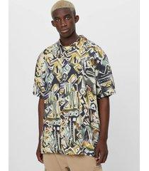 blouse met geometrische print