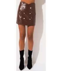 akira ballin out faux leather mini skirt