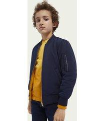 scotch & soda reversible cotton-blend artwork bomber jacket