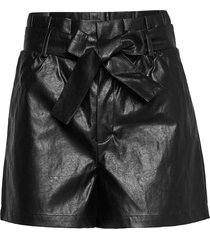 shorts shorts leather shorts svart sofie schnoor