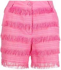 love moschino fringe-design shorts - pink