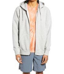 men's bp. men's ottoman full-zip hoodie, size 4x-large - grey