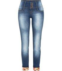 jeans skinny con risvolto (blu) - rainbow