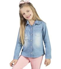 camisa infantil bugbee jeans feminina