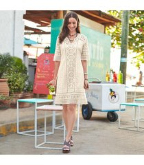 allover eyelet dress