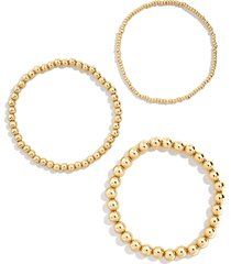 women's baublebar set of 3 beaded stretch bracelets