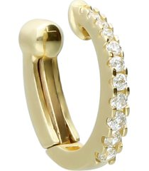 orecchino ear cuff in oro giallo e zirconi per donna
