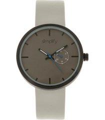 simplify quartz the 3900 genuine grey leather watch 40mm