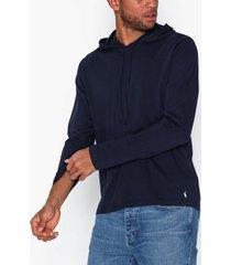 polo ralph lauren long sleeve cotton hoodie tröjor navy