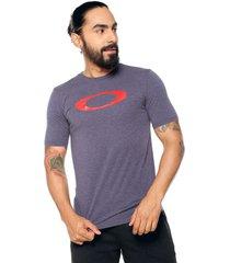 camiseta azul-rojo oakley