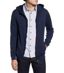 men's stone rose zip hoodie, size xxx-large - blue