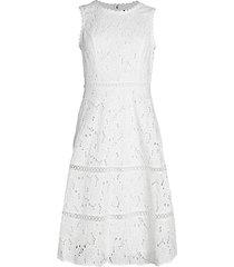 lace eyelet flare dress