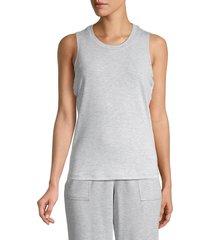 max studio women's reesia cutout sleeveless top - blue - size xl