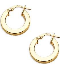 14k gold huggie hoop earrings