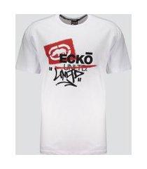 camiseta ecko basic print estampada branca