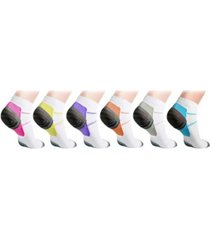 men's and women's athletic ankle compression socks - 6 pairs
