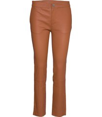 2nd leya leather leggings/byxor beige 2ndday