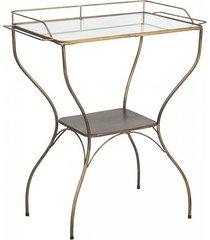 stolik kawowy stolik boczny metalowy old