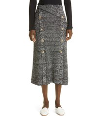 st. john collection boucle rib midi skirt, size x-large in black multi at nordstrom
