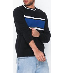 new look colour block crew tröjor black