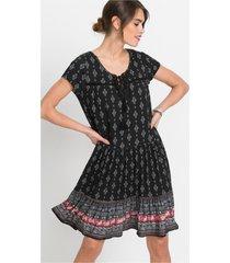 jersey jurk, korte mouw