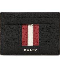 bally men's thar.lt business card case - red bally/beige